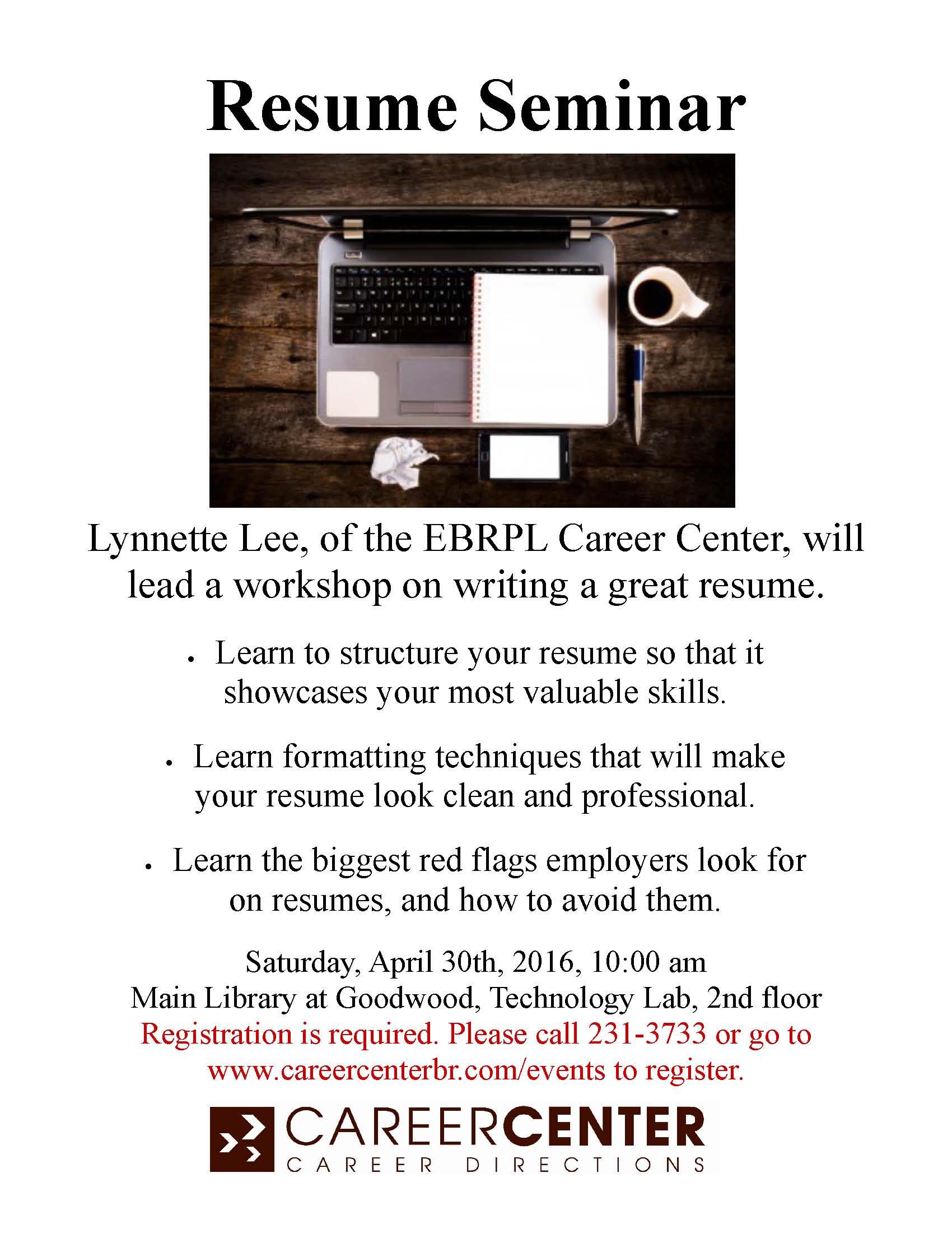 Resume Seminar_April 2016