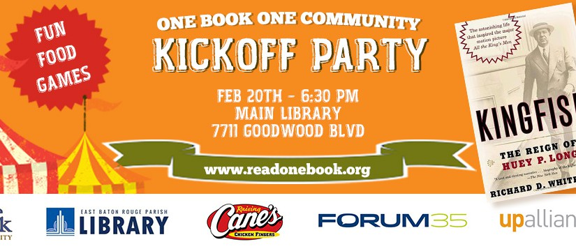 One Book, One Community Kick-Off Bonanza
