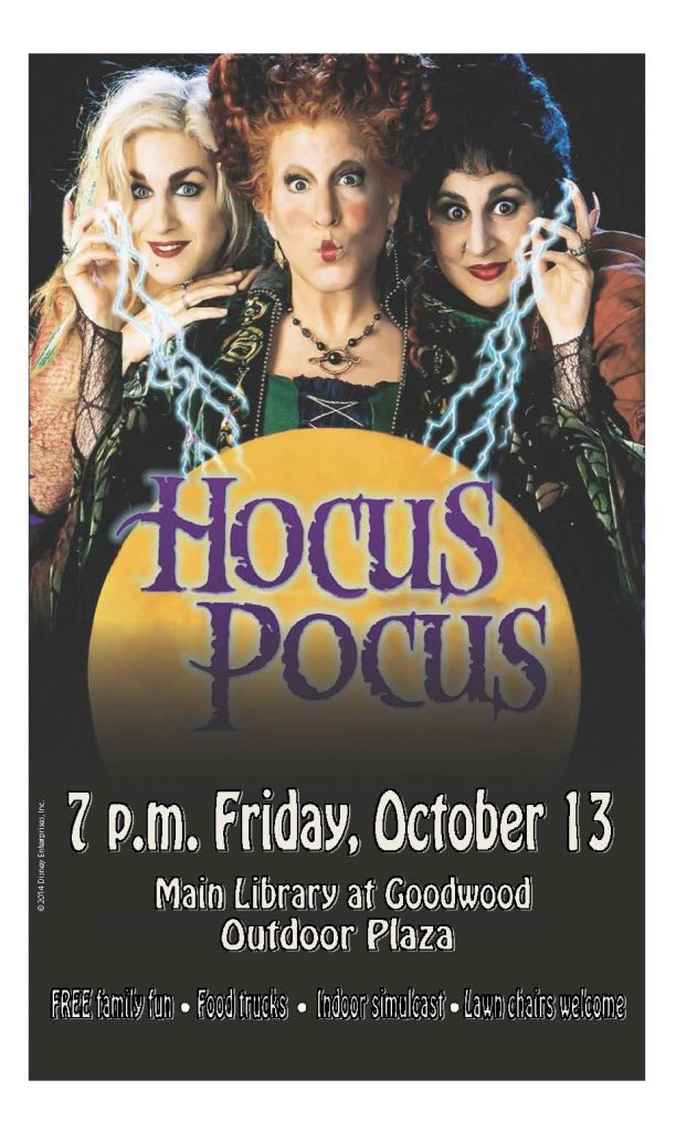 Come Watch With Us Hocus Pocus East Baton Rouge Parish Library Infoblog